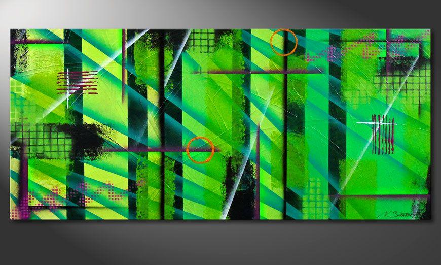 Green 130x60x2cm Wandbild