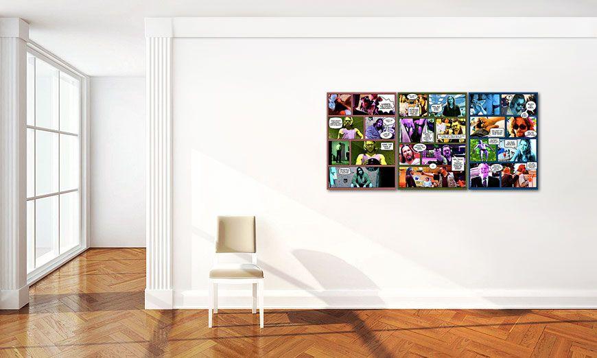 Il grande lebowski 150x70cm quadro da soggiorno