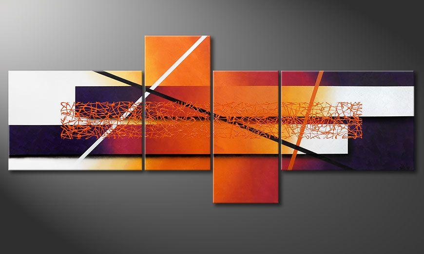 Leinwandbild Afterglowing Memories 240x100x2cm