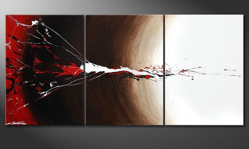 Unser Wandbild Erupted Contrast 150x70x2cm