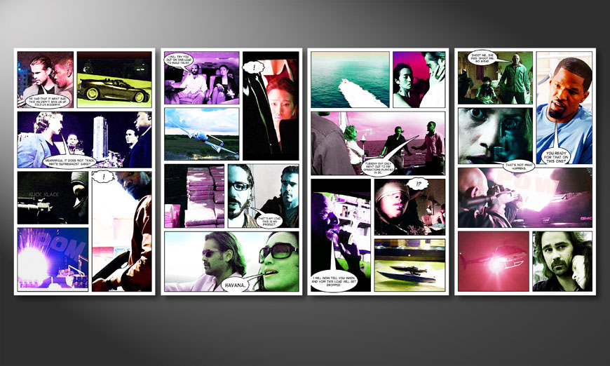 Unser modernes Wandbild Miami Vice 160x70x2cm