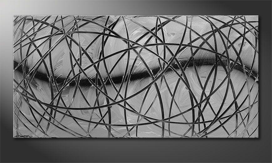 Wandbild modern Broken White 140x70x2cm