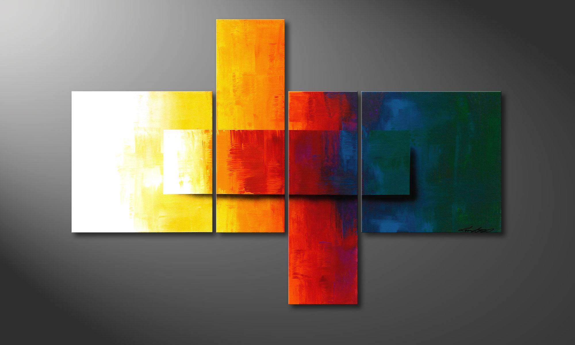 quadro da soggiorno Rainbow Colors 120x80cm
