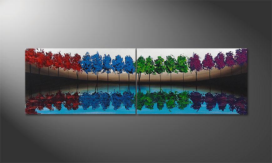 Das Wandbild Miracle Sea 200x60x2cm
