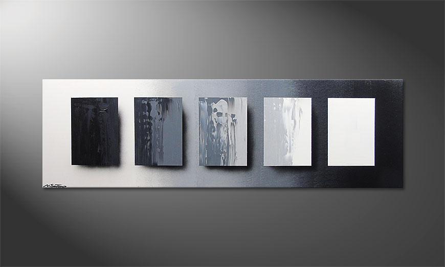 Das Wandbild Reverse the Day in 160x50x2cm