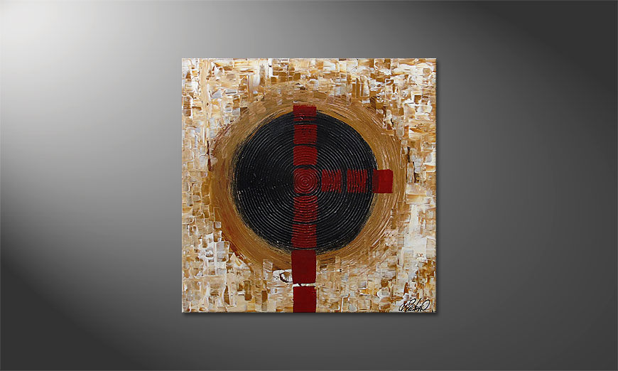 Das Wandbild Squaring the Circle 80x80x2cm