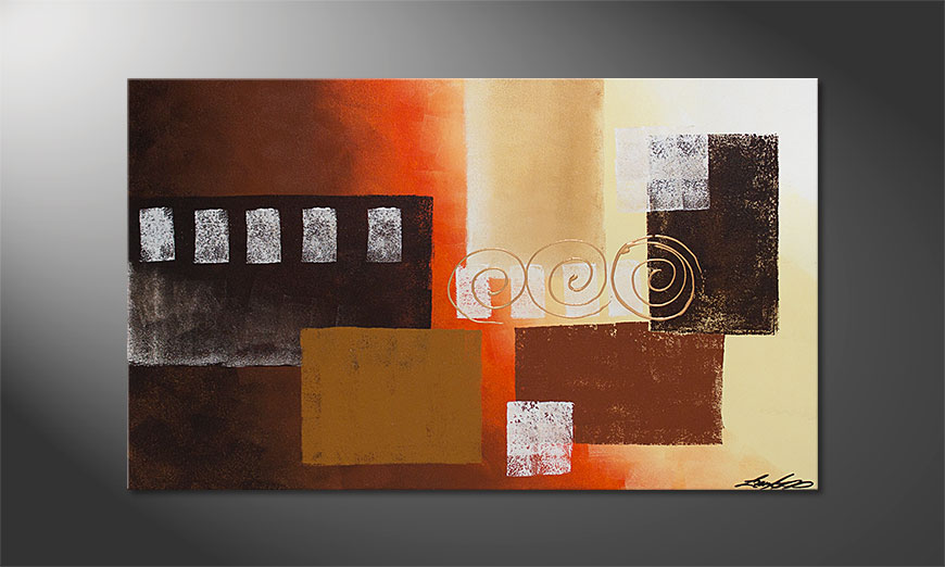 Das Wandbild Sunny Swirls 100x60x2cm