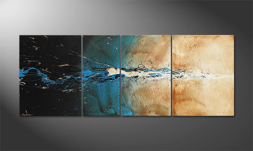 Das Wandbild The Source in 170x70x2cm
