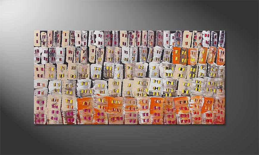 Das Wandbild Urban Desert 120x60x2cm