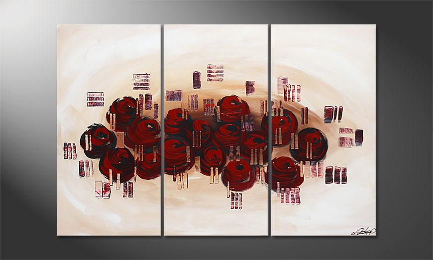 Dream of Roses 120x80x2cm Wandbild