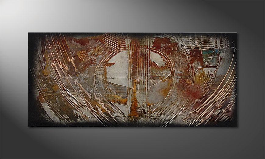 Traces of Past 110x50x2cm Wandbild