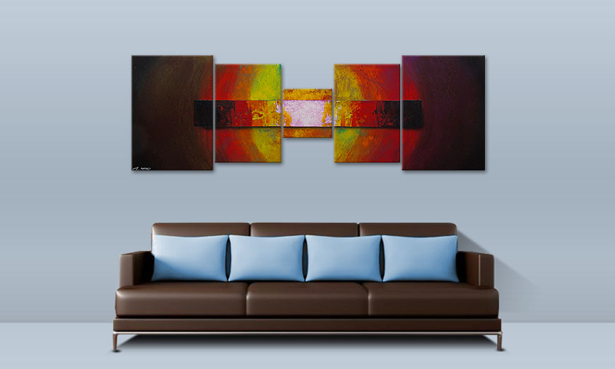 Das Wandbild Afterglowing Sky 210x70cm