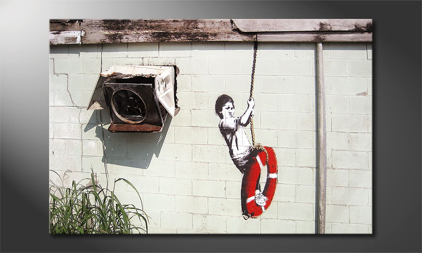 Das Leinwandbild Banksy No4