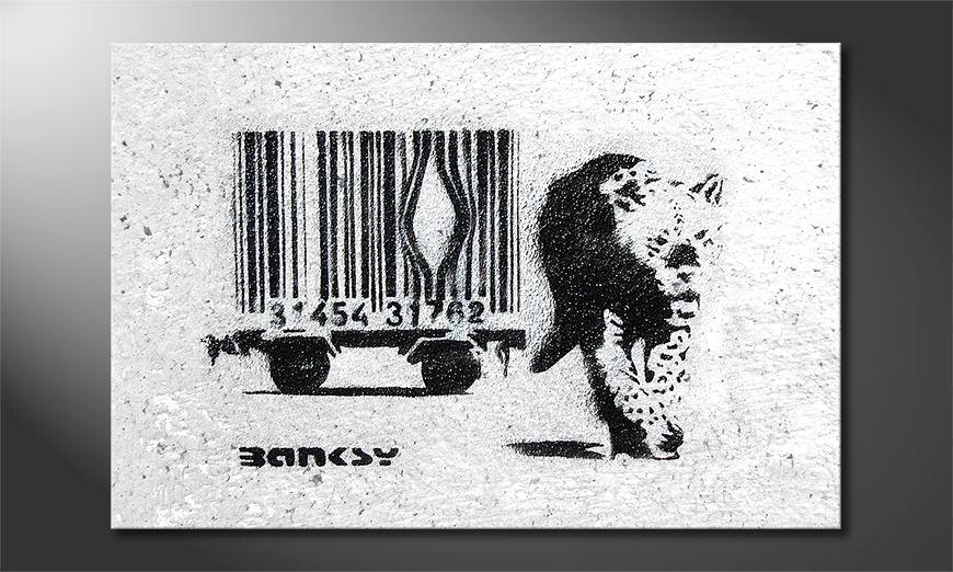 Das Leinwandbild Banksy No5
