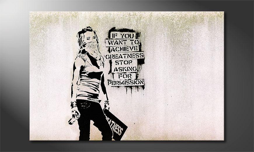 Das Leinwandbild Banksy No7