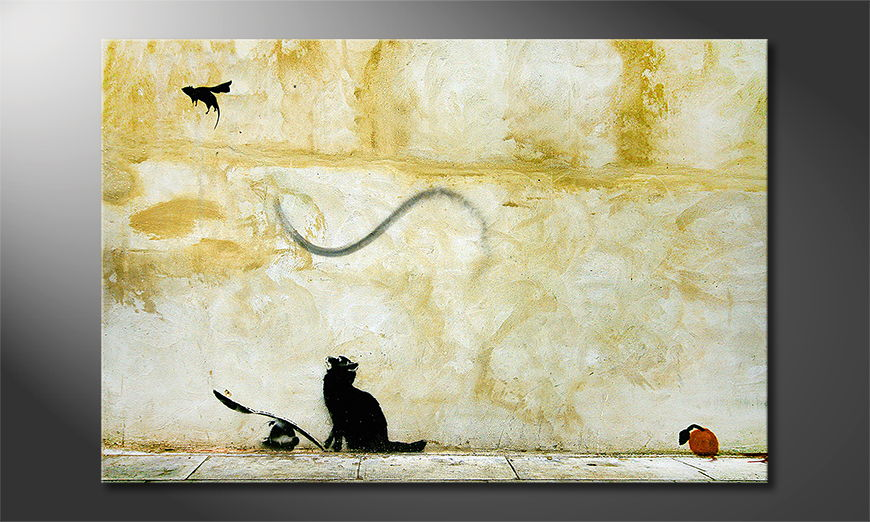 Das Leinwandbild Banksy No8