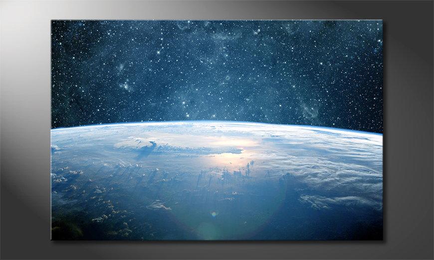 Das Leinwandbild Earth Planet I