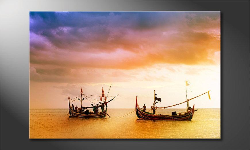 Das Leinwandbild Fishing Boats