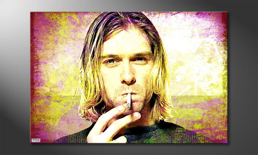 Das Leinwandbild Kurt