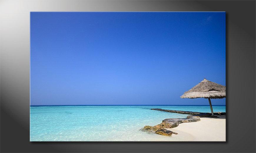 Das Leinwandbild Maledives Beach