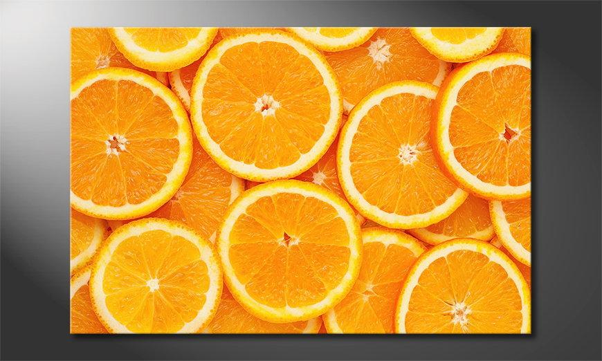 Das Leinwandbild Oranges
