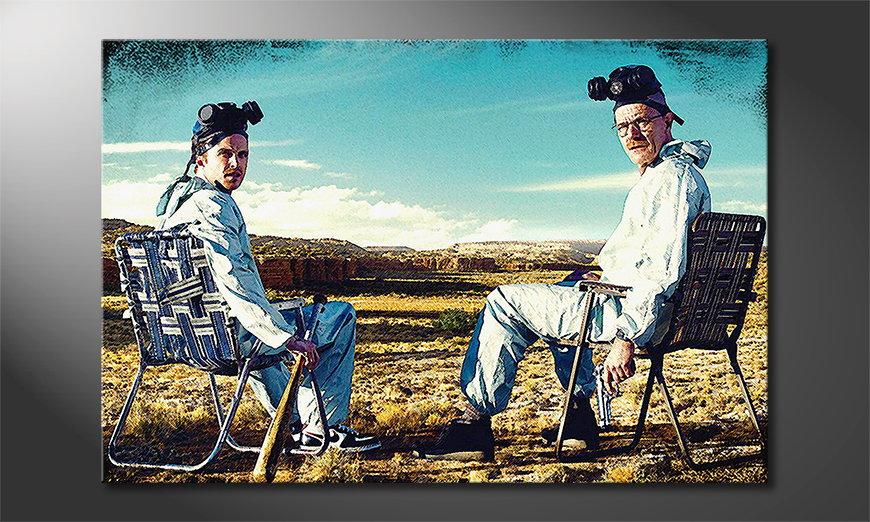 Das Leinwandbild Walter and Jesse