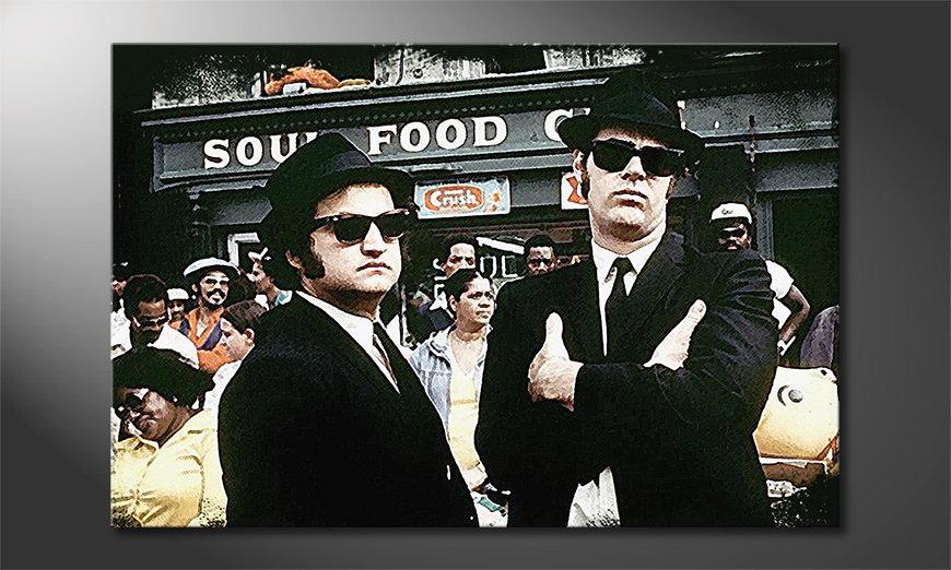 Das Wandbild Blues Brothers Moment