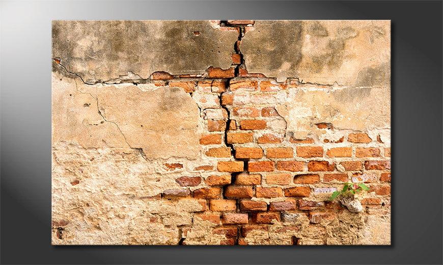 Das Wandbild Broken Wall