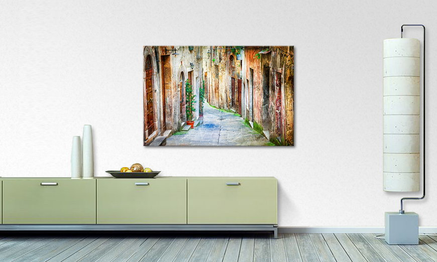 Das Wandbild Charming Alley