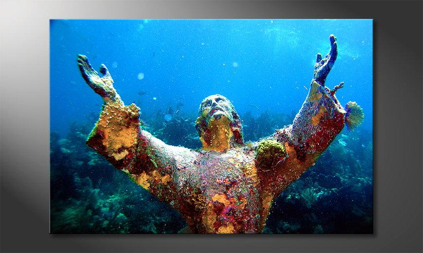 Das Wandbild Christ of the Abyss