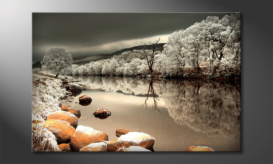 Das Wandbild Mystic River
