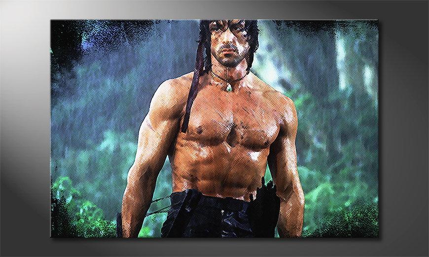 Das Wandbild Rambo Moment