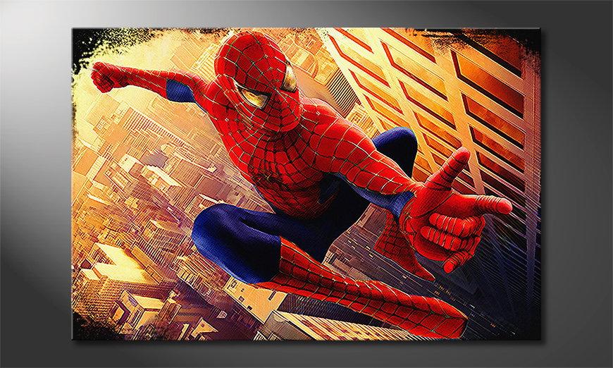 Das Wandbild Spiderman Moment