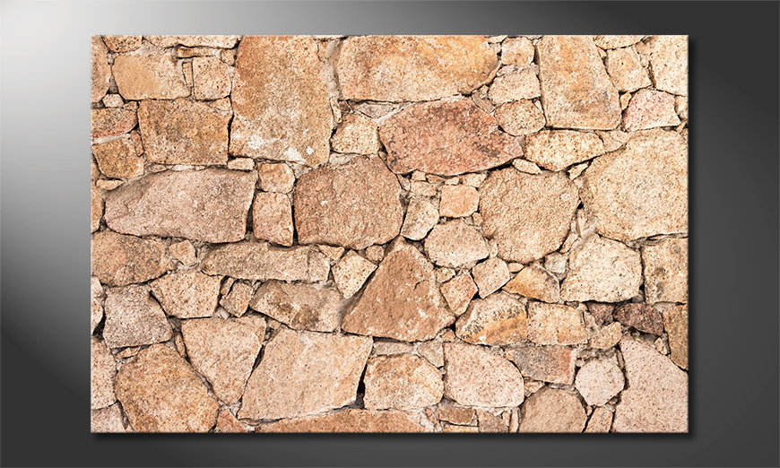 Das Wandbild Wall of Stones