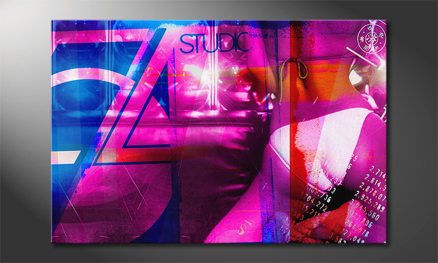 Das abstrakte Wandbild Studio 54 in 6 Größen