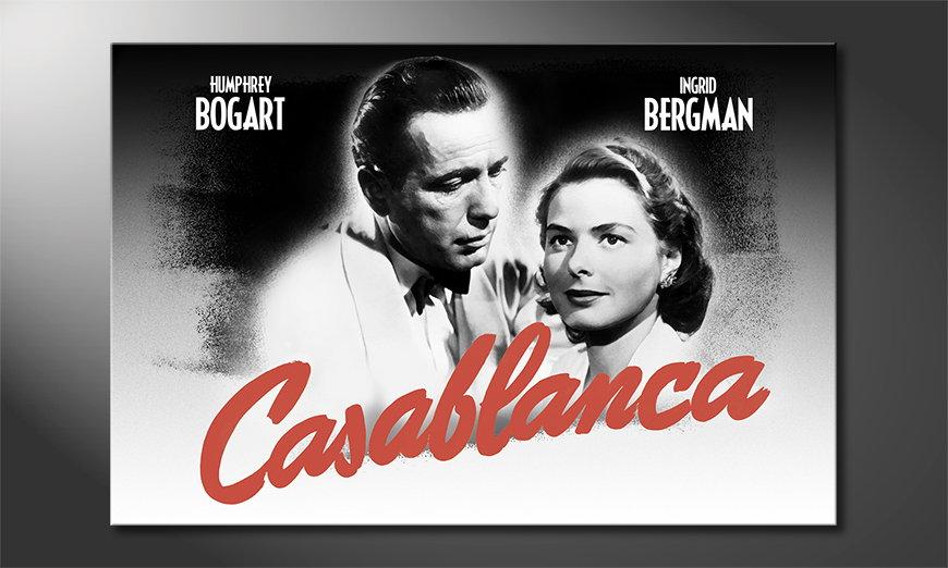 Das beliebte Wandbild Casablanca
