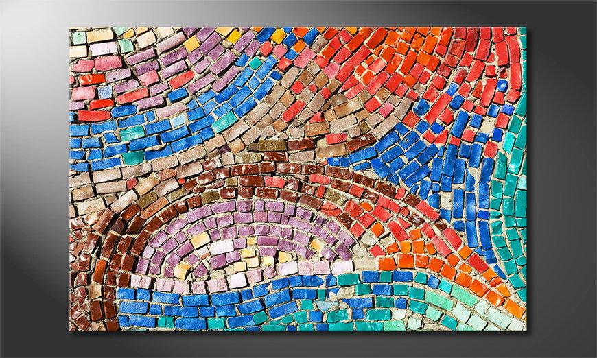 Das gedruckte Bild Colorful Mosaic