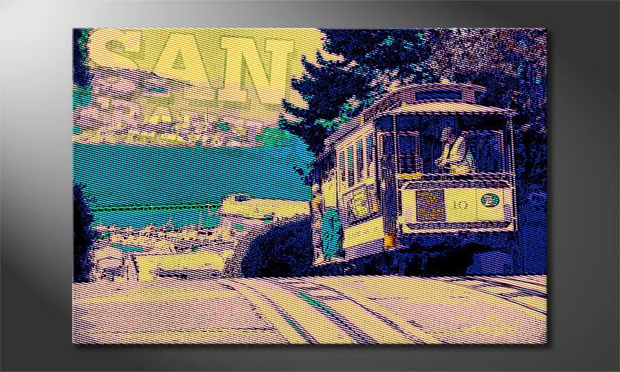 Das gedruckte Bild San Francisco