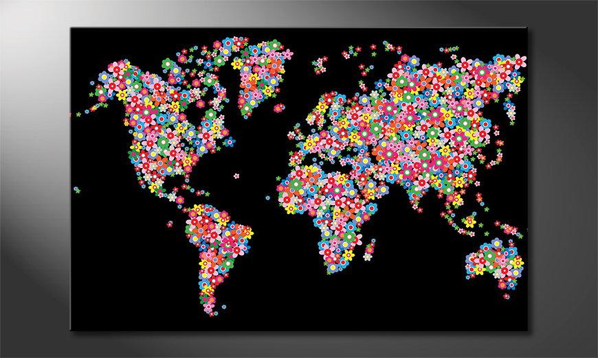 Das gedruckte Bild World Flowers