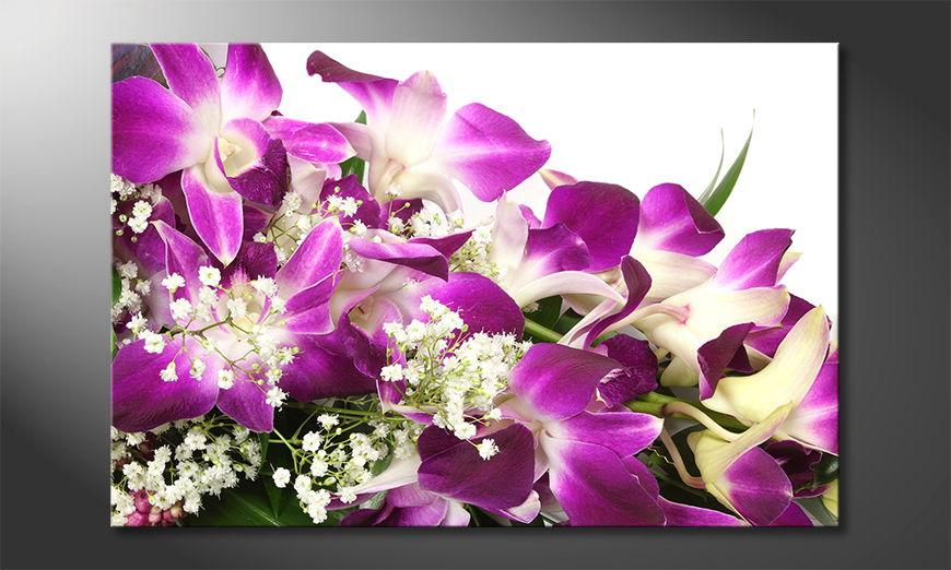 Das gedruckte Wandbild Orchid Blossoms