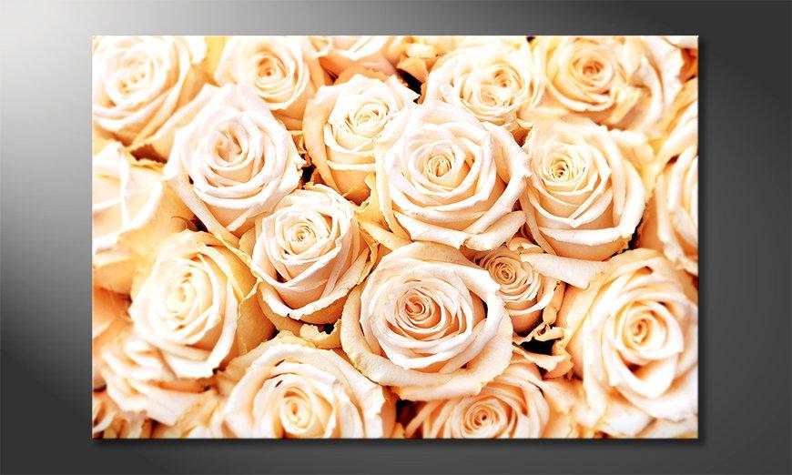 Das moderne Bild Creamy Roses