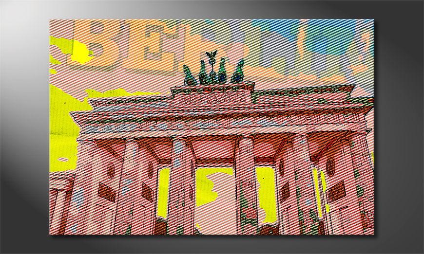 Das moderne Leinwandbild Berlin