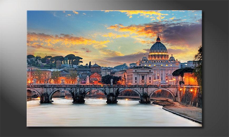 Das moderne Leinwandbild Vatican