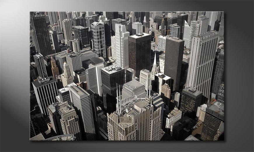 Das moderne Wandbild City of Chicago
