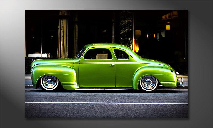 Das moderne Wandbild Green Car