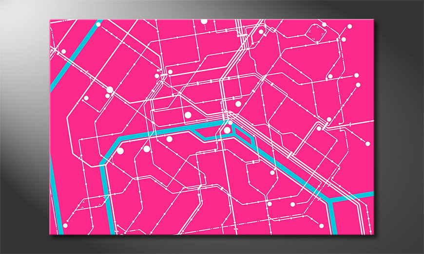Das moderne Wandbild Metro Paris
