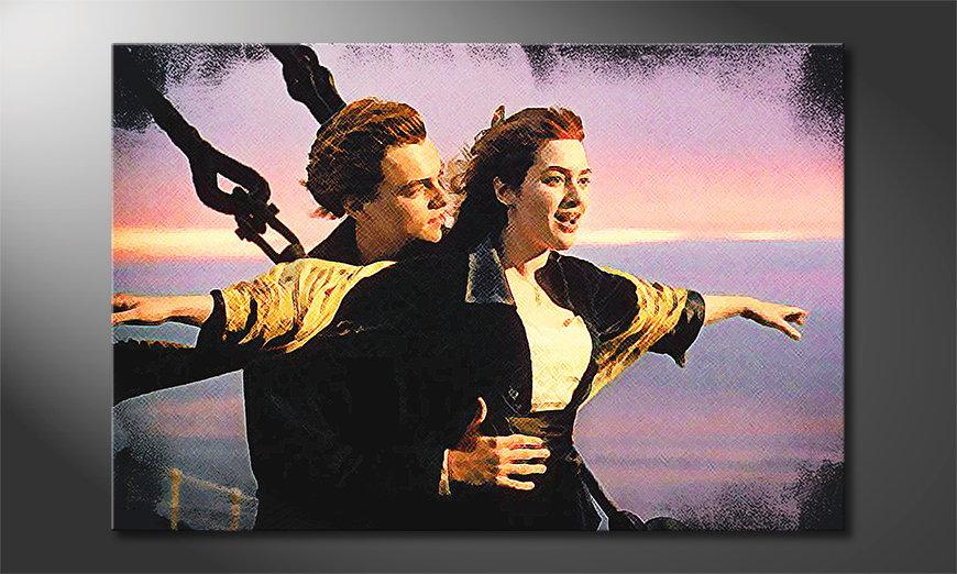 Das moderne Wandbild Titanic
