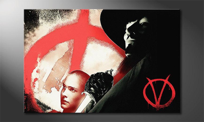 Das moderne Wandbild Vendetta