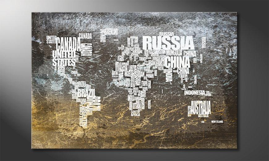 Das moderne Wandbild Weltkarte Nr20