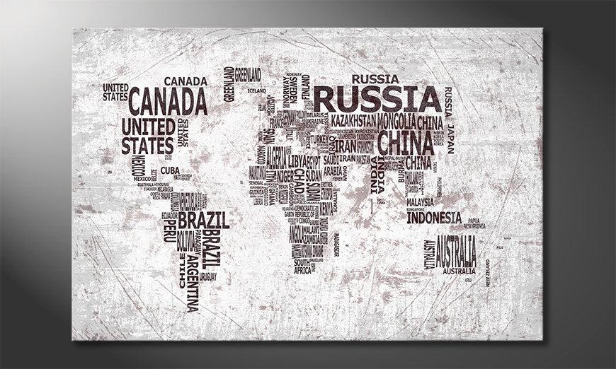 Das moderne Wandbild Weltkarte Nr22